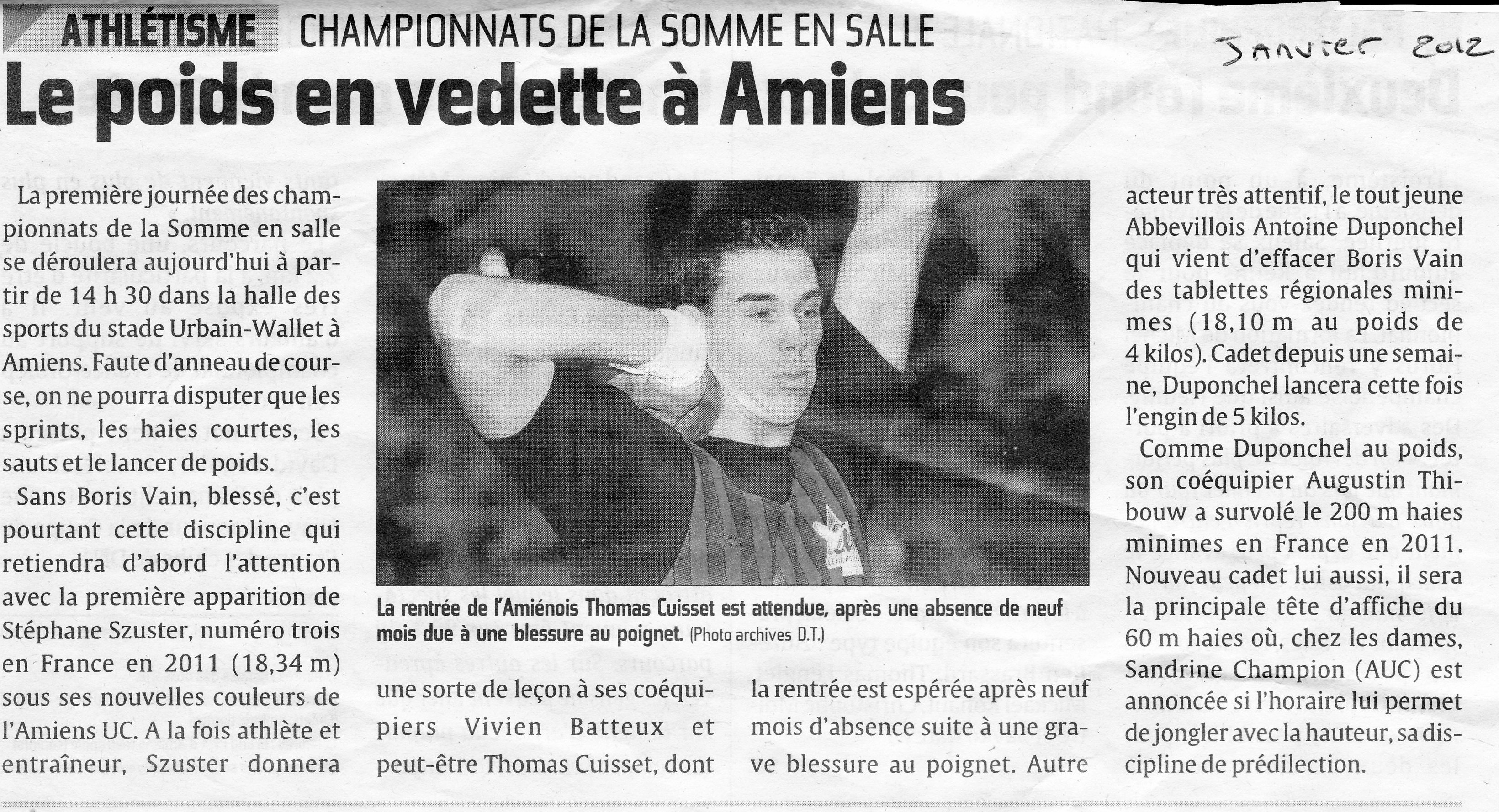 Courrier Picard 15.01.12